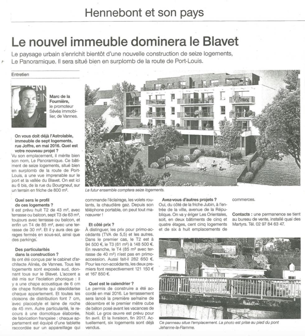 Ouest France du 24 octobre 2016